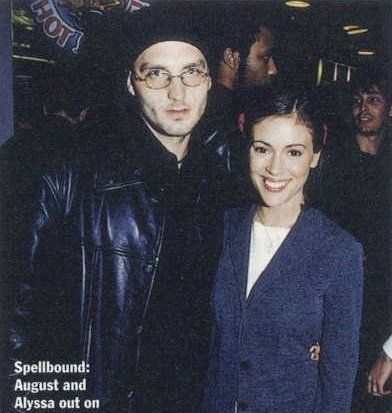 Cinjun Tate Alyssa Milano and Cinjun August Tate