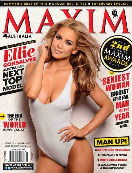 Ellie Gonsalves  Maxim Australia January 2013