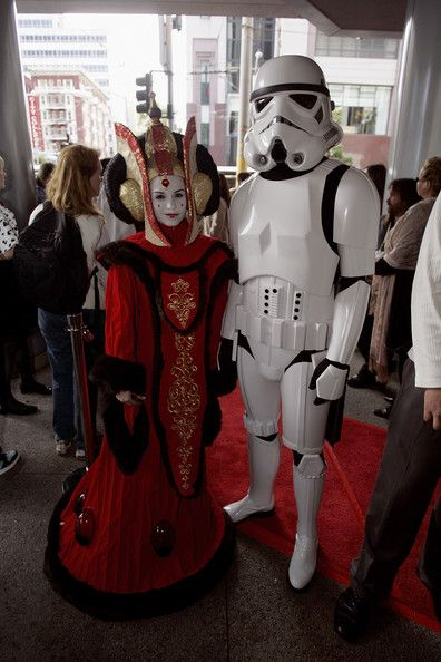 Natalie Martinez dressed as Queen Amidala at the premiere of 'Star Wars: Episode III - Revenge of the Sith'
