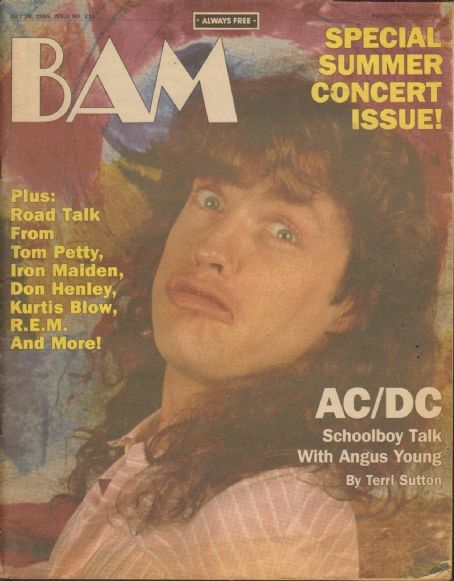 Angus Young - BAM Magazine Cover [United States] (26 July 1985)