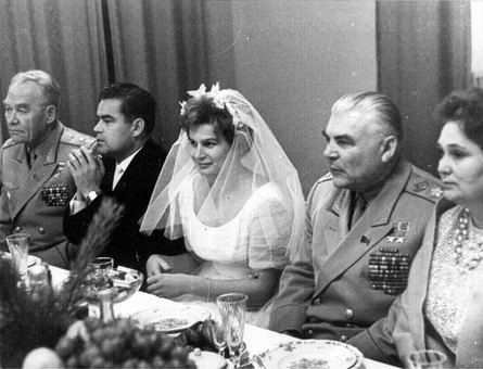 Valentina Tereshkova  and Andrian Nikolayev