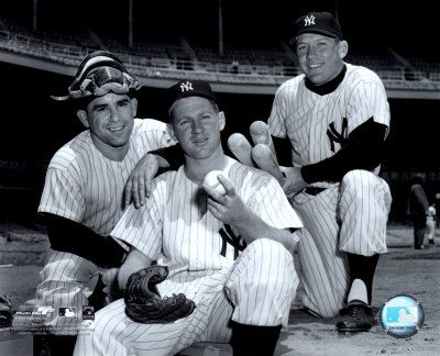 Yogi Berra Yogi with Whitey Ford  & Mickey Mantle