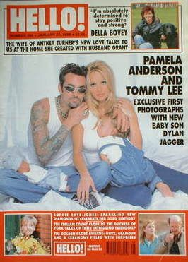 Tommy Lee, Pamela Anderson - Hello! Magazine Cover [United Kingdom] (31 January 1998)