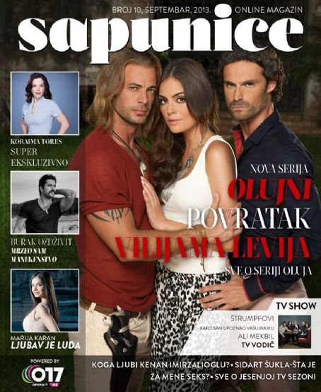 Iván Sánchez, William Levy, Jimena Navarrete - Sapunice Magazine Cover [Serbia] (September 2013)