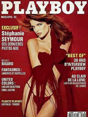Stephanie Seymour - Playboy Magazine Cover [France] (March 1993)