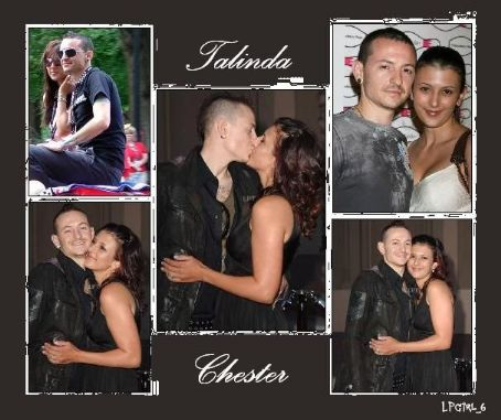 Chester Bennington and Talinda Bentley