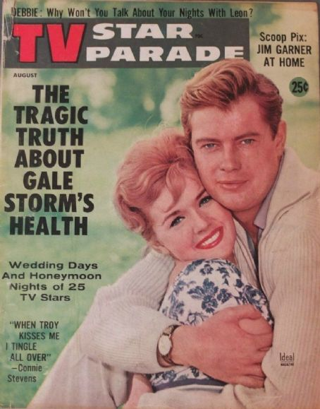 Troy Donahue, Connie Stevens - TV Star Parade Magazine Cover [United States] (August 1960)