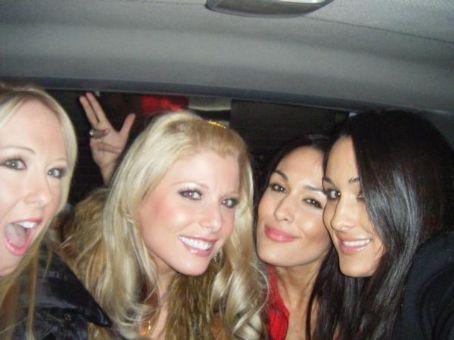 Krissy Vaine , Brie Bella, Nikki Bella and Amber O'Neal