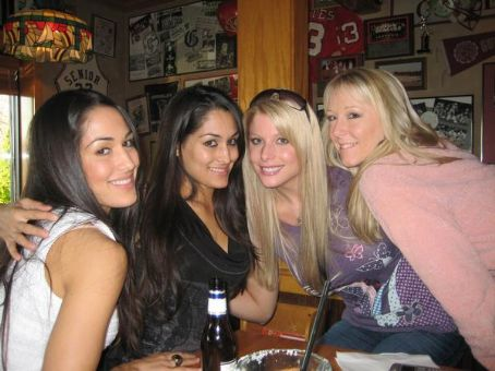 Krissy Vaine Krissy with the Bella Twins