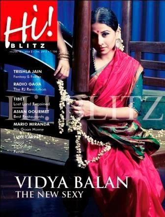 Vidya Balan - Hi! BLITZ Magazine Cover [India] (January 2012)