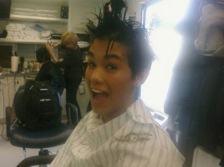 Booboo Stewart Boo Boo Stewart Gets His Hair Cut for Eclipse