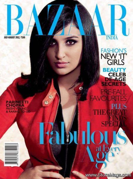 Parineeta Chopra - Harper's Bazaar Magazine Cover [India] (August 2012)