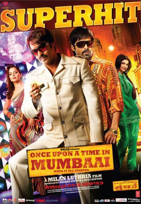 Ajay Devgan and Kangana Ranaut Once Upon a Time in Mumbai Poster n Pictures