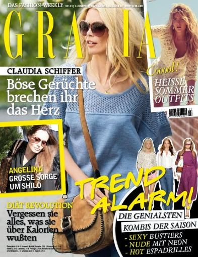 Claudia Schiffer - Grazia Magazine Cover [Germany] (1 June 2011)