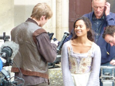Angel Coulby and Bradley James my favourite kind of smile.