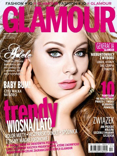 Adele - Glamour Magazine Cover [Poland] (February 2012)