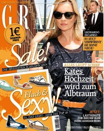 Kate Moss - Grazia Magazine Cover [Germany] (16 June 2011)