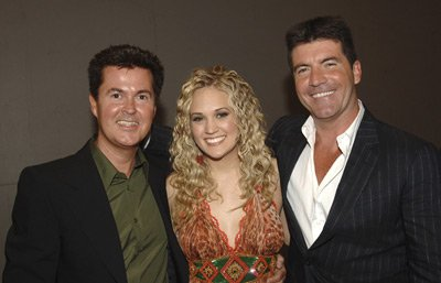 Simon Fuller American Idol Season 4 - Finale - Backstage and Audience