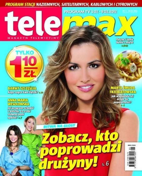 Marta Zmuda - Tele Max Magazine Cover [Poland] (3 February 2012)
