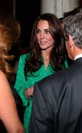 Kate Middleton Wears Green Mulberry to Attend a Reception With Prince William