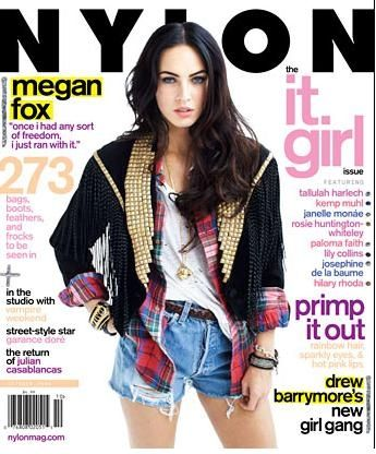 Megan Fox - Cover of Nylon - October 09.