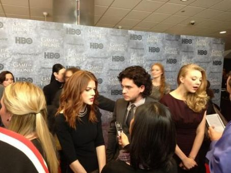 Rose Leslie Kit Harington and  at the Game of Thrones Season 3 Premiere in Seattle (March 21, 2013)