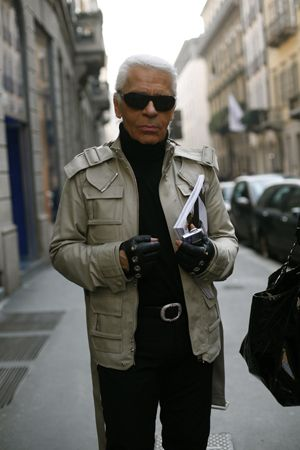 Karl Lagerfeld Lagerfeld on the streets of Paris
