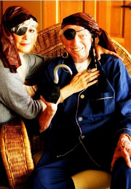 Sidney Sheldon with his wife actress Alexandra