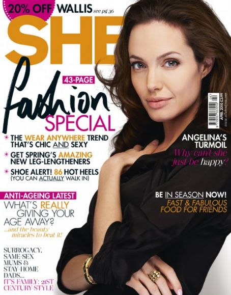 Angelina Jolie - She Magazine [United Kingdom] (April 2010)