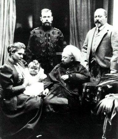 Tsarina Alexandra Meeting her great-grandmother and Godmother, Queen Victoria