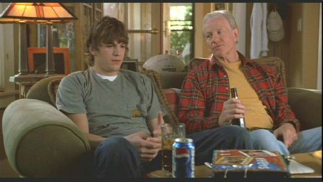 Raymond J. Barry Ashton Kutcher as Tom Leezak and Raymond Barry as Mr. Leezak in 20th Century Fox's Just Married directed by Shawn Levy - 2003