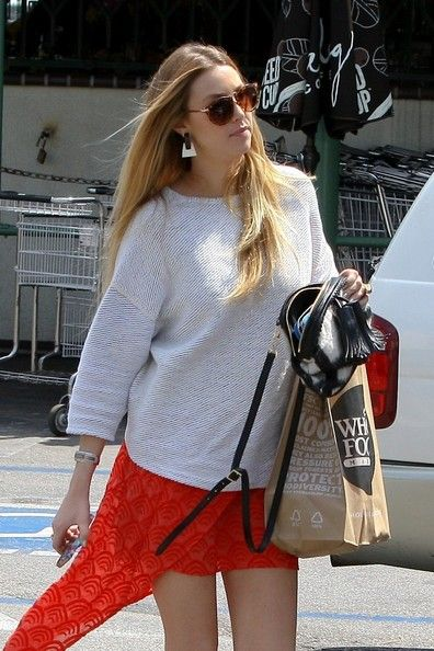 Whitney Port at Whole Foods