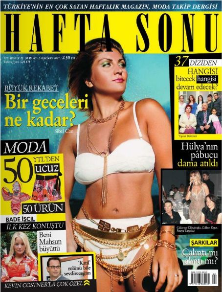 Sibel Can, Bade Iscil, Kevin Costner, Gülben Ergen - Haftasonu Magazine Cover [Turkey] (30 May 2007)