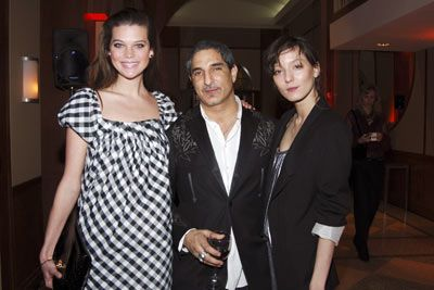 Alexandra Tomlinson At the Food Bank awards dinner with Nur Khan and Irina Lazareanu