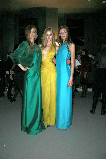Toni Garrn With Kasia Struss and