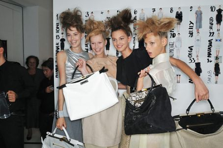 Toni Garrn With Taryn Davidson, and Anna Selezneva at Fendi