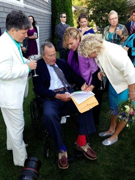 George Bush Wedding...(notice the socks)