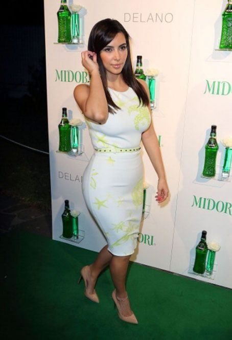 Kim Kardashian at the Midori Beachside Bash at Delano Beach Club (July 20)