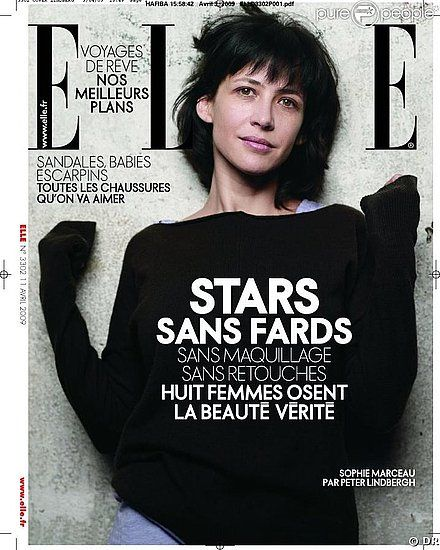 Sophie Marceau - Elle Magazine [France] (April 2009)
