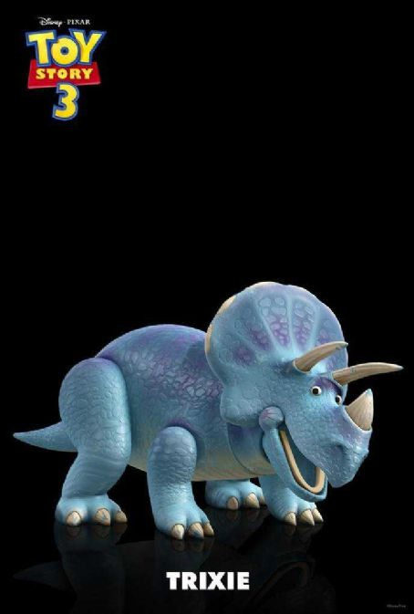 Kristen Schaal Toy Story 3 Character Poster 'Trixie' Trixie is a perfect playmate for prehistoric playtime! Visit the era when dinosaurs ruled the Earth! Made of rigid, durable plastic and in friendly shades of blue and purple, Trixie features an expressive mout