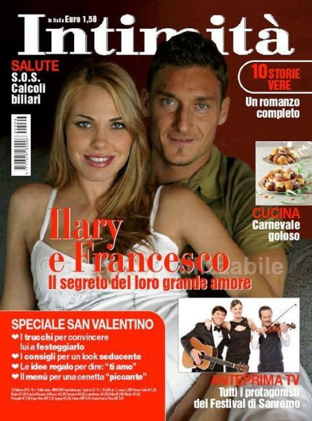 Ilary Blasi, Francesco Totti - Intimit� Magazine Cover [Italy] (8 February 2012)