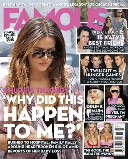 Khloé Kardashian - Famous Magazine Cover [Australia] (8 March 2012)