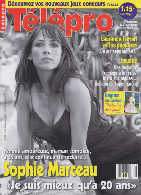 Sophie Marceau - Télépro Magazine [France] (25 September 2003)