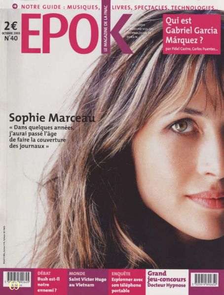 Sophie Marceau - Epok Magazine [France] (October 2003)